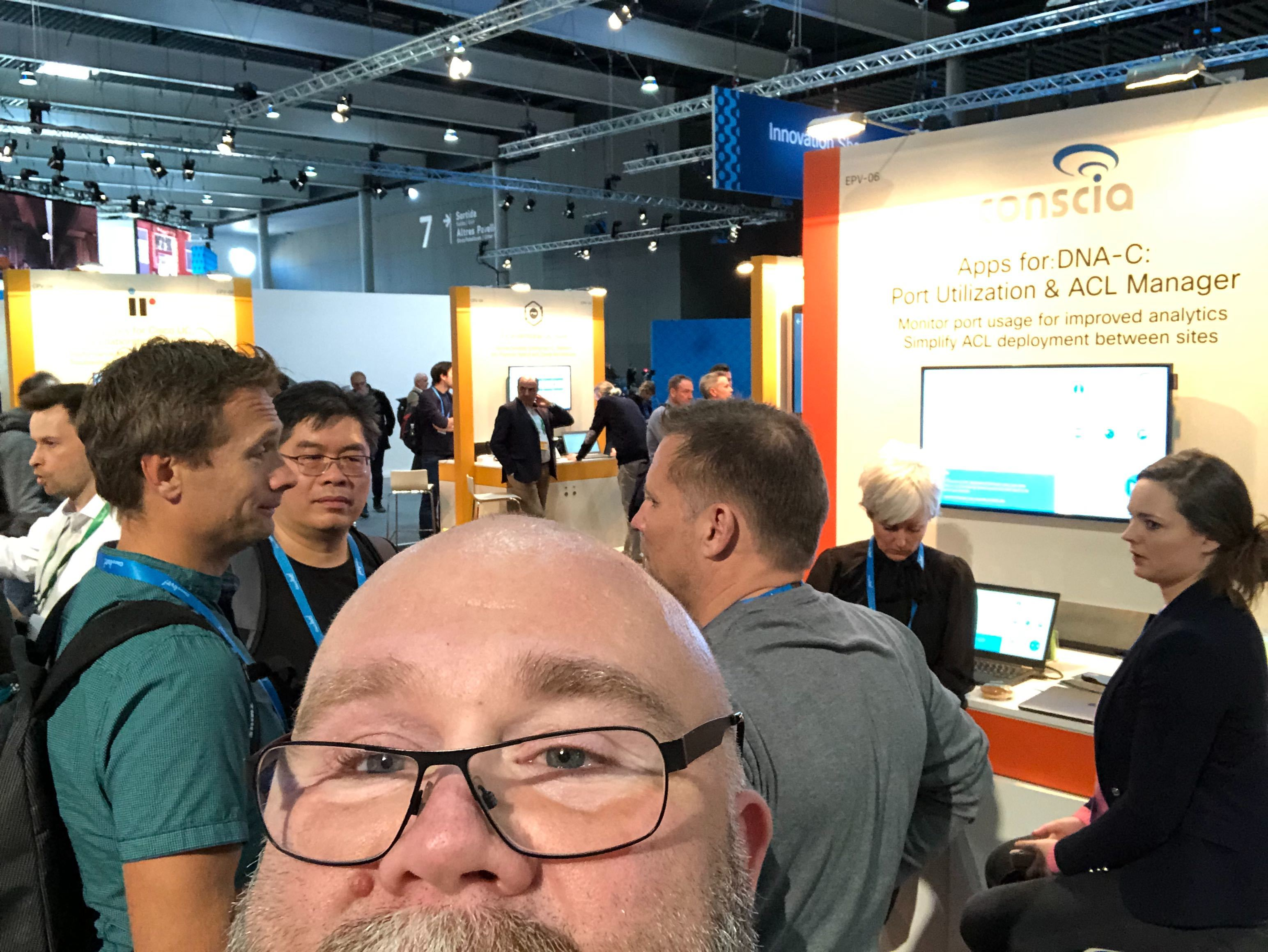 Conscia CLEUR Booth 2019: DNA Center ACL Manager