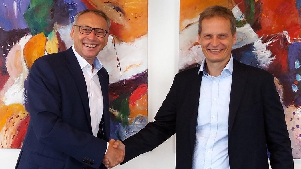 Voskos VD Mark Gozeling och Conscias VD Mogens Bransholm