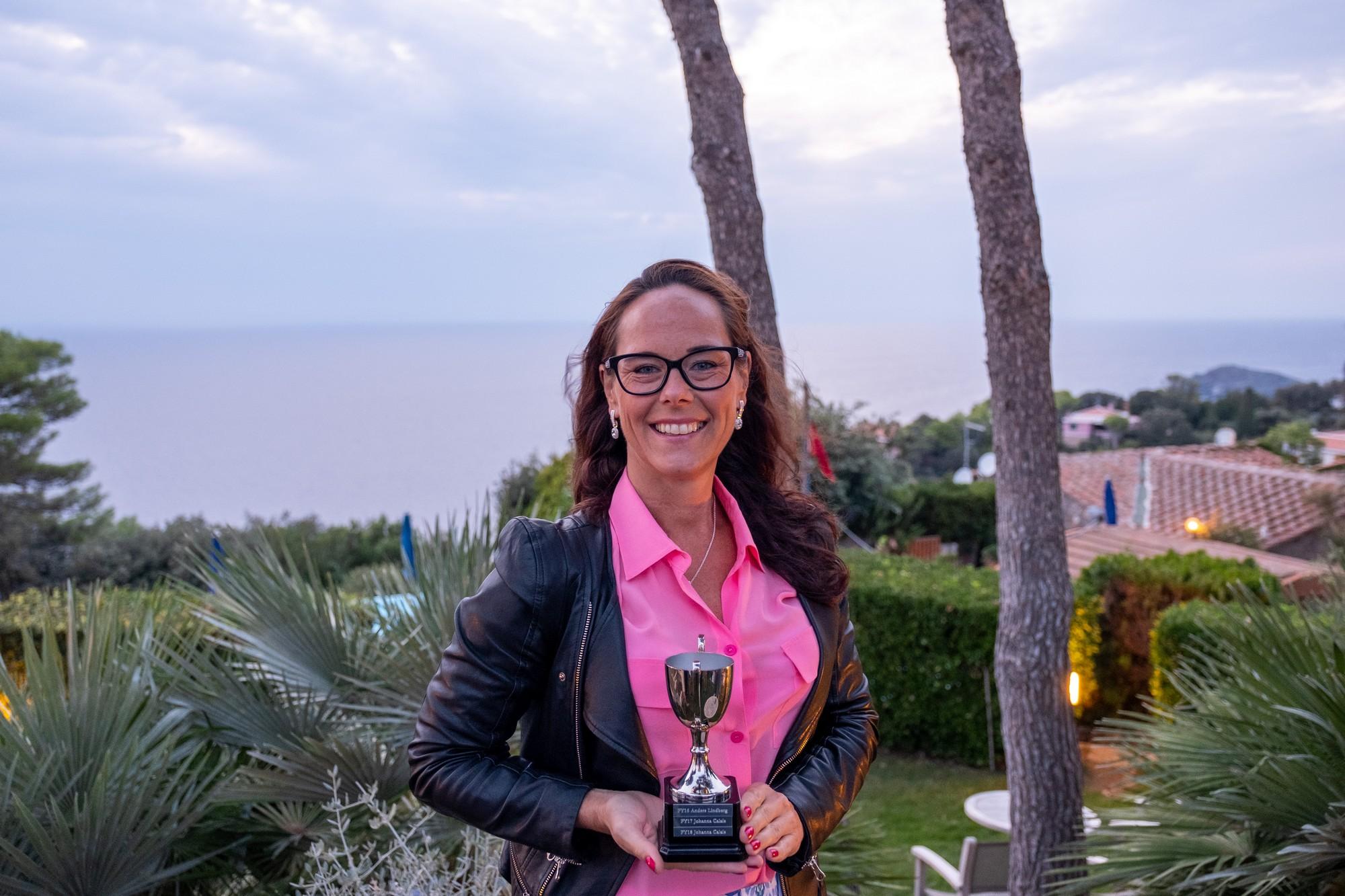 Årets säljare på Conscia Netsafe 2017, 2018 och 2019 - Johanna Calais