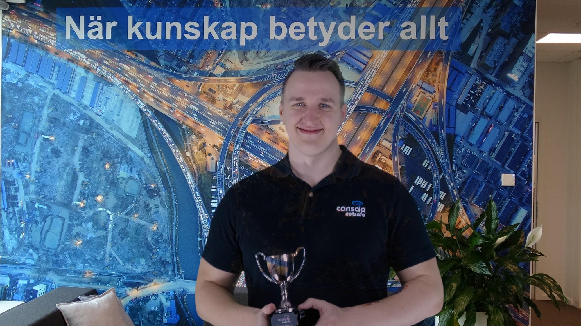 Årets Insats 2019 på Conscia Netsafe stod Sebastian Pesic för