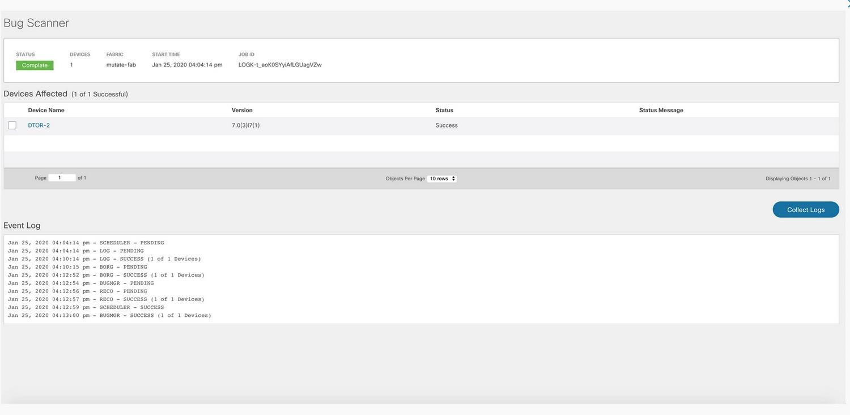 Cisco Intersight Network Insights Advisor Bug Scanner