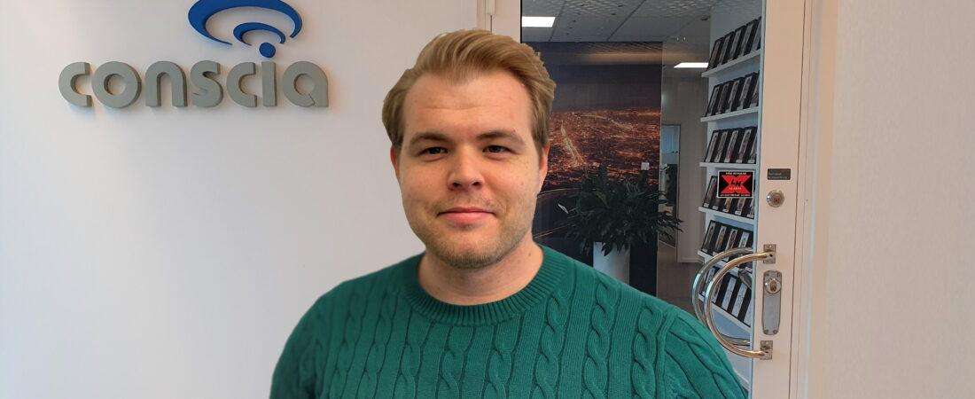 Robin Remming ny nätverkskonsult på Conscia Väst Göteborg