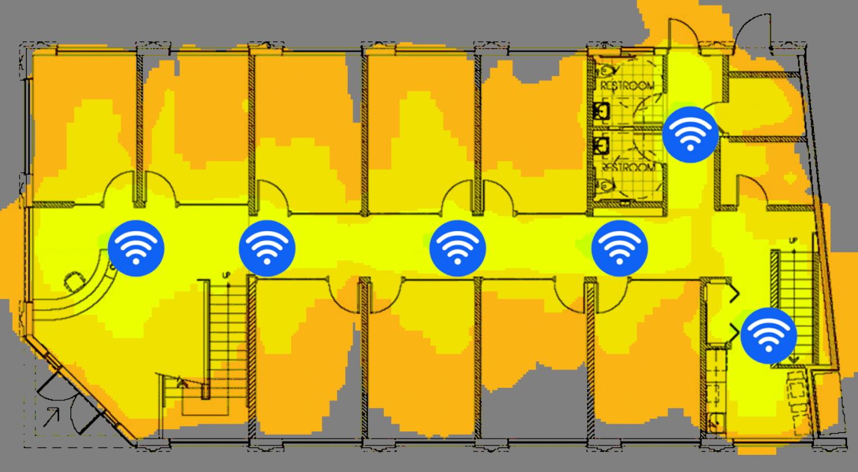 Wifi misstag nr 2 Accesspunkter där de inte används ex korridor