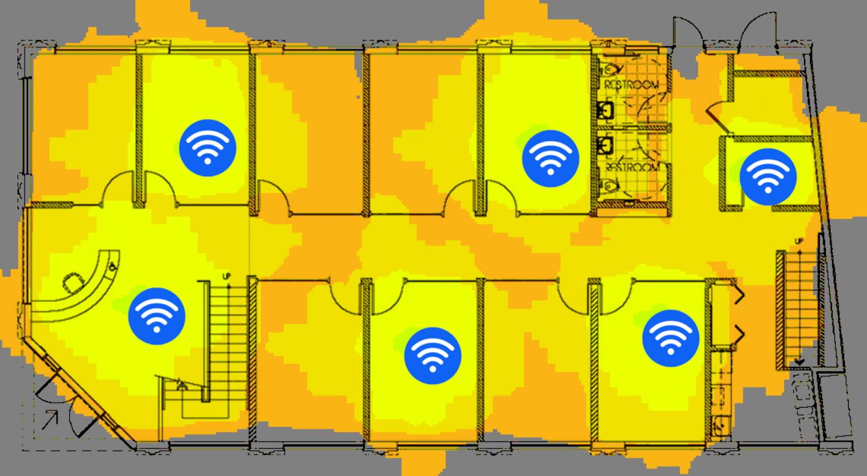 Wifi placera alltid accesspunkterna där de skall användas
